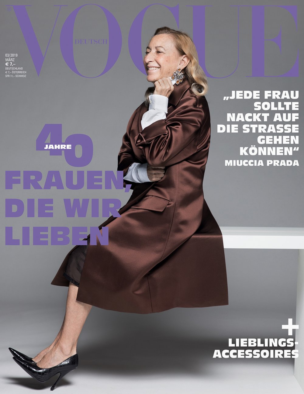 Miuccia Prada, German Vogue, March 2019