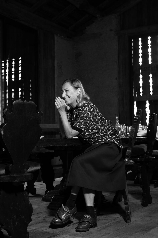 Miuccia Prada, Harper's Bazaar UK, St. Moritz