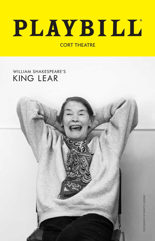 """King Lear"", Glenda Jackson, New York"