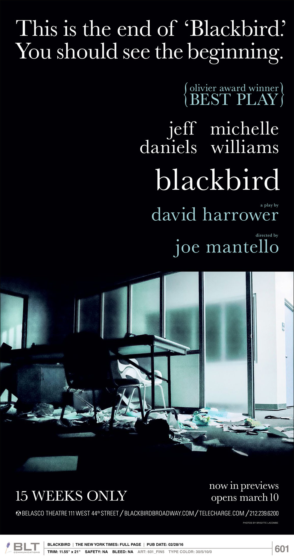 Blackbird, Belasco Theater, 2016