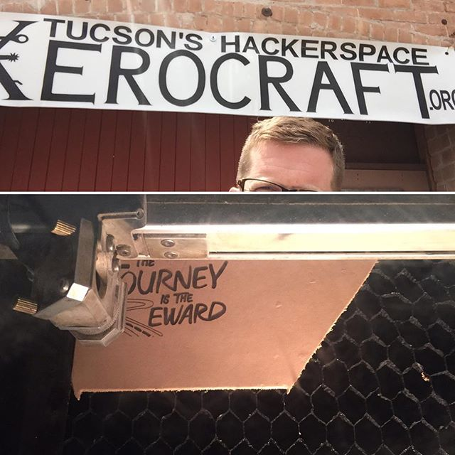 Working with laser and leather today at Xerocaft in Tucson. Jason was super helpful!!