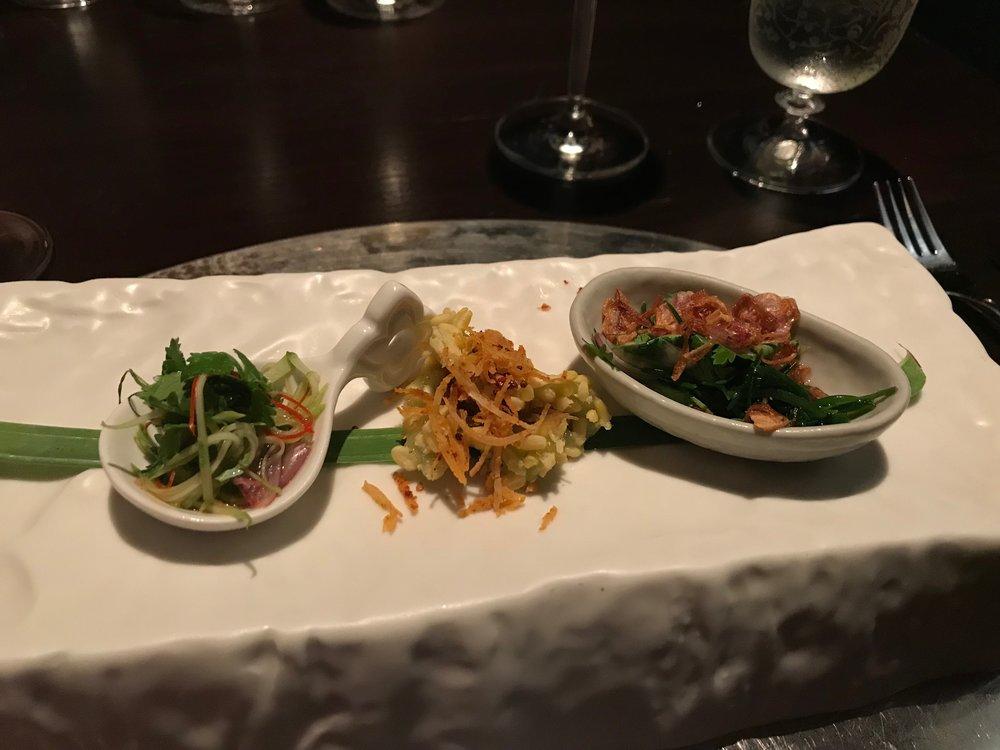 Appetizers at Bo Lan