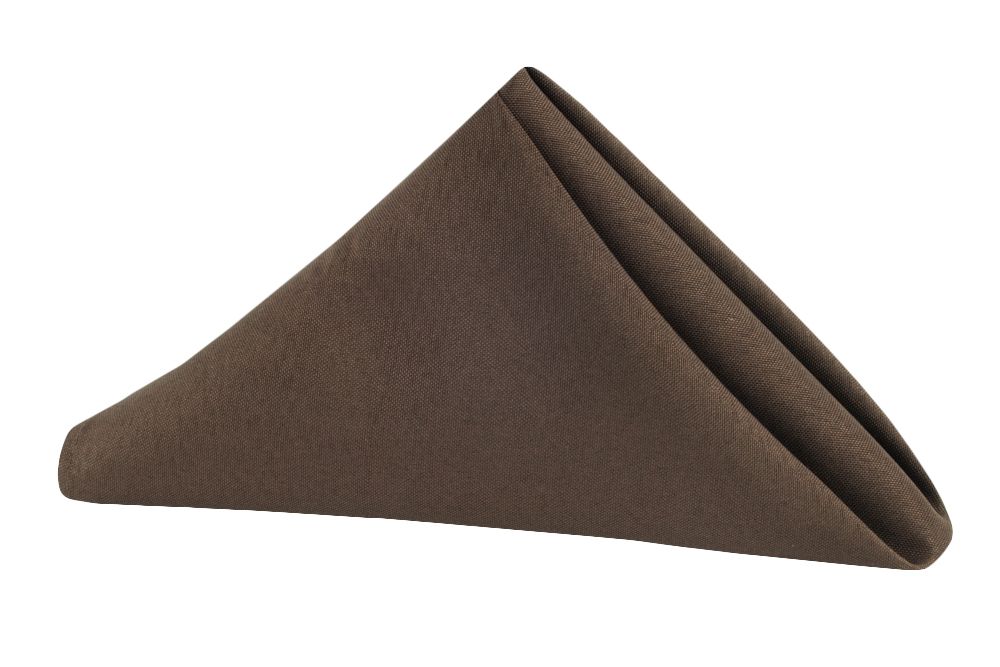 Napkin Polyester Chocolate Brown.jpg