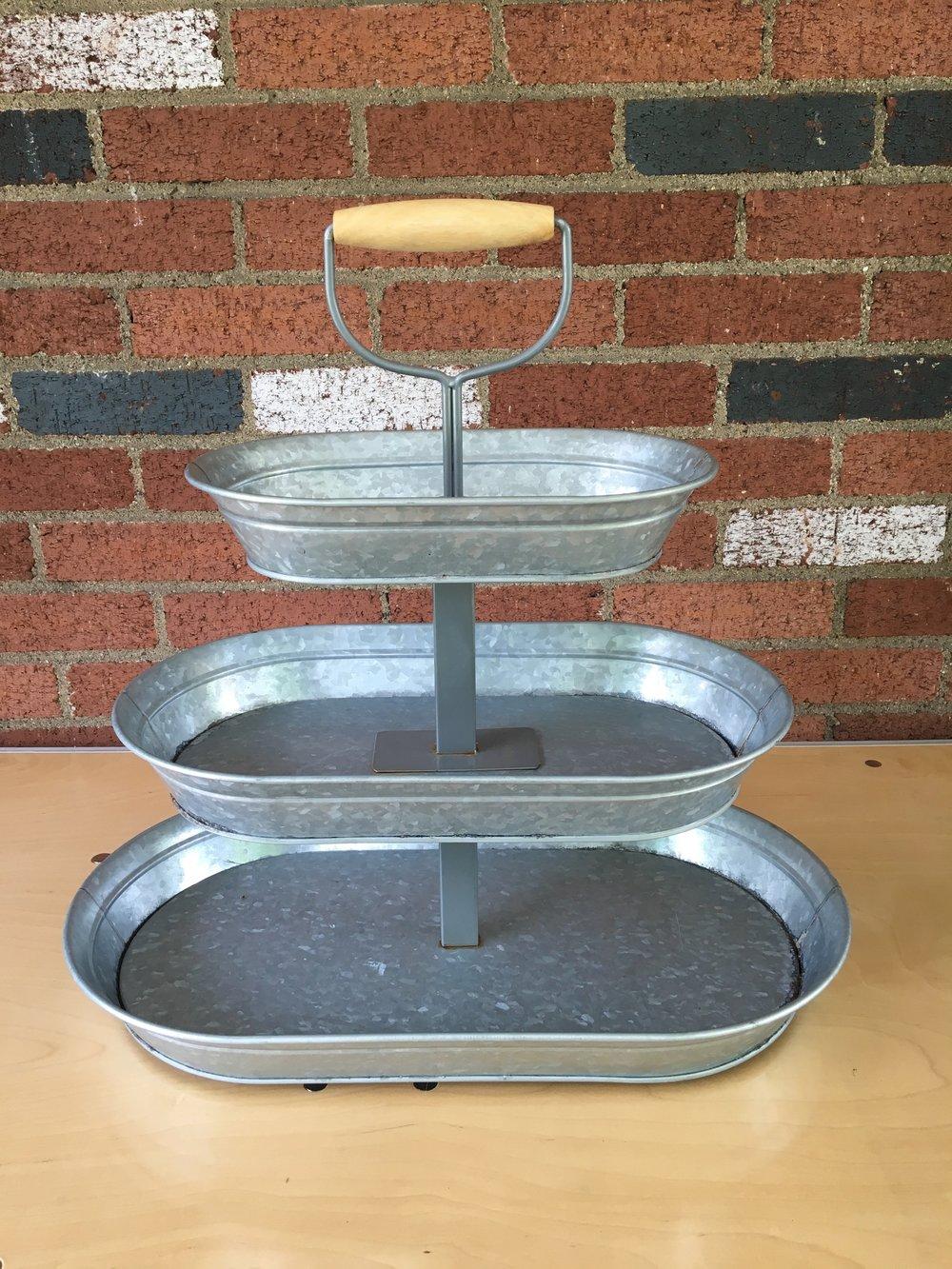 Galvanized Cookie Platter