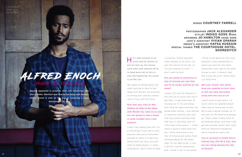 Alfred Enoch for Fault Magazine