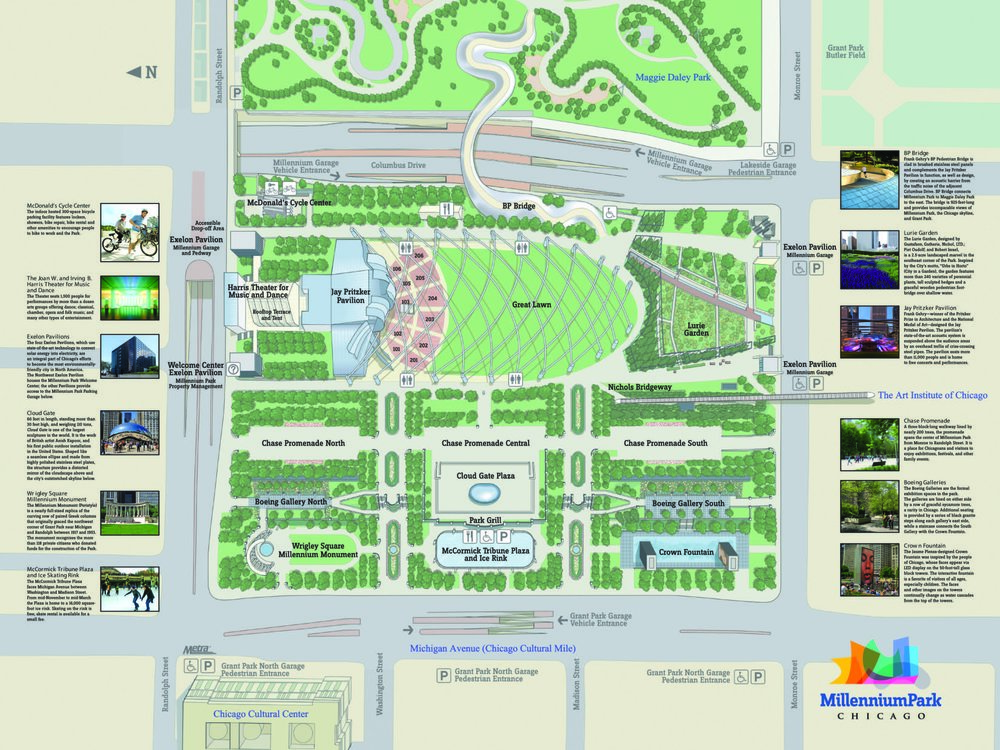 Click Here For a Map of Millennium Park