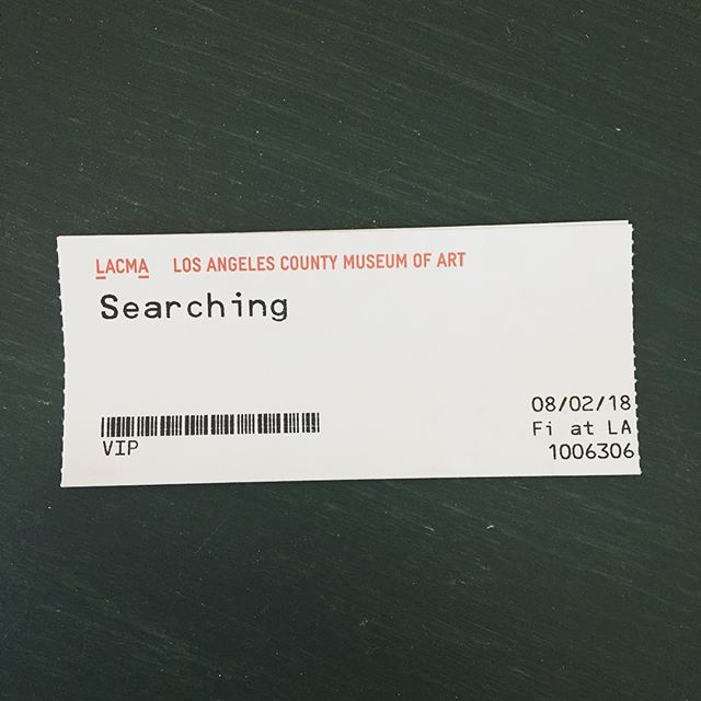 Lucky me got to see SEARCHING last night— so much fun! Really well done and kinda shockingly engaging 💻☠️ Go see it August 24! #searchingmovie #searchingreview