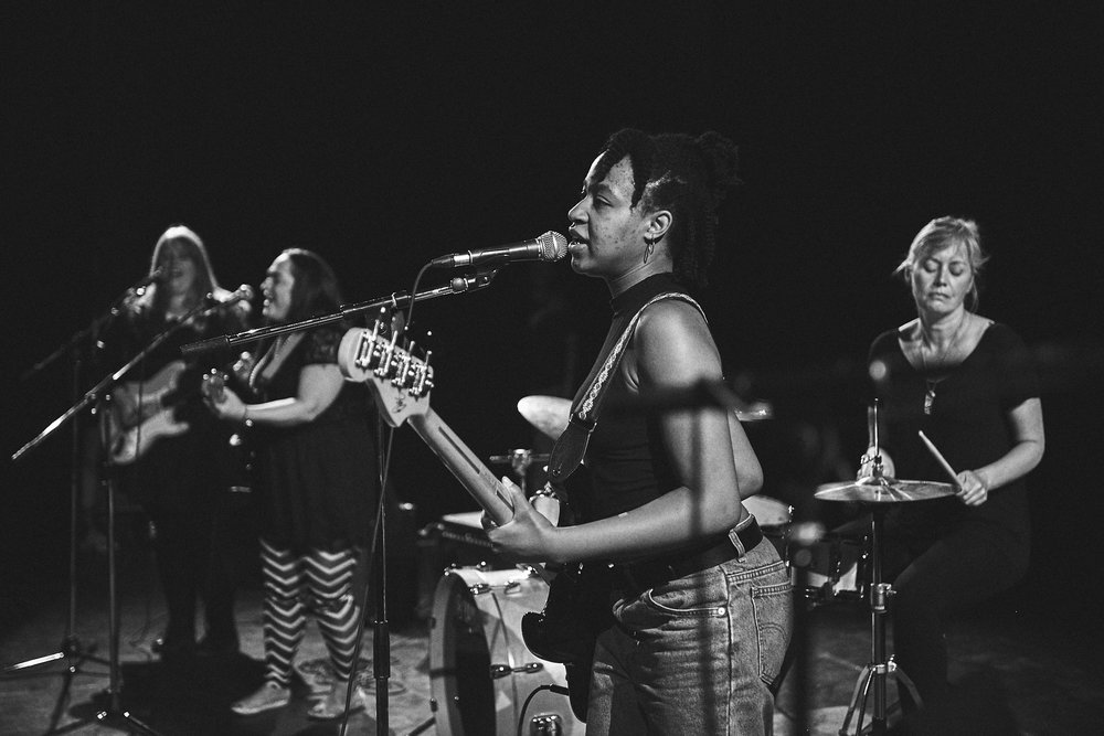 Rock camp for women+ - Rock Camp for Women+ is a weekend-long camp where women, femmes, non-binary, two-spirit, and gender non-conforming folk ages 19+ learn an instrument, form a band and perform a song at a music showcase in front of family and friends!