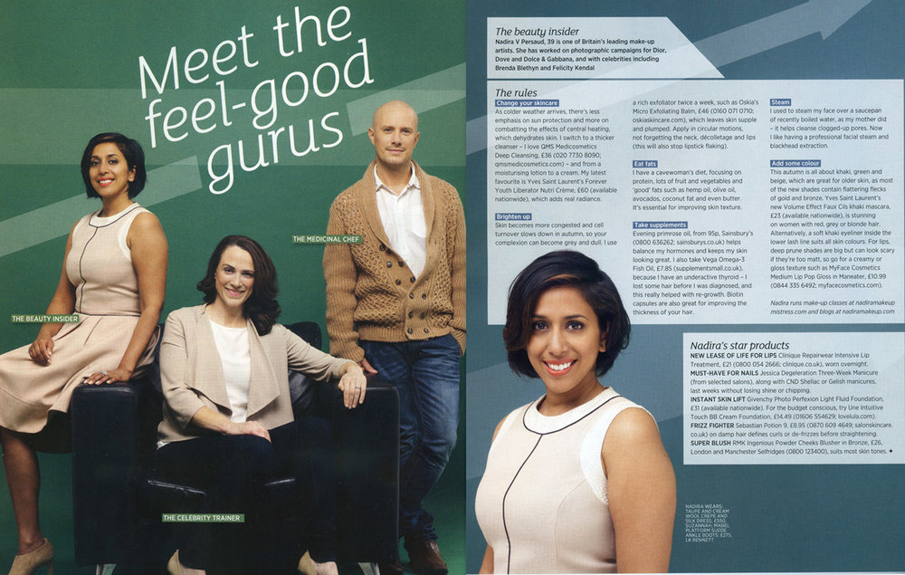 Sainsbury's Magazine, Oct Issue, Meet the Feel-Good Gurus