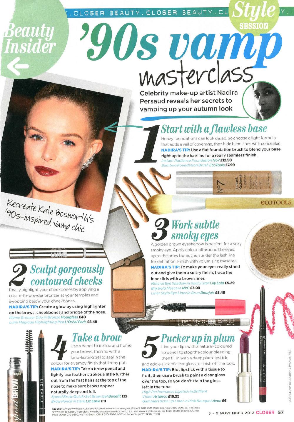 Closer Magazine 90's Vamp Masterclass