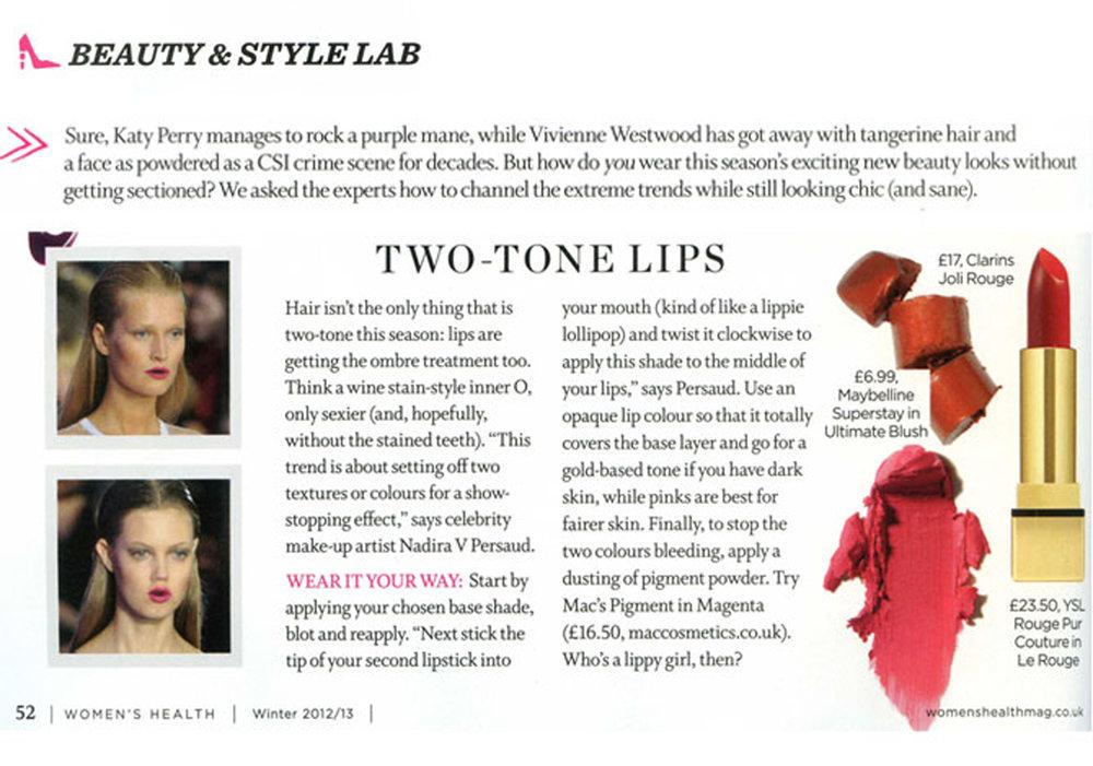 Two Tone Lips, Women's Health