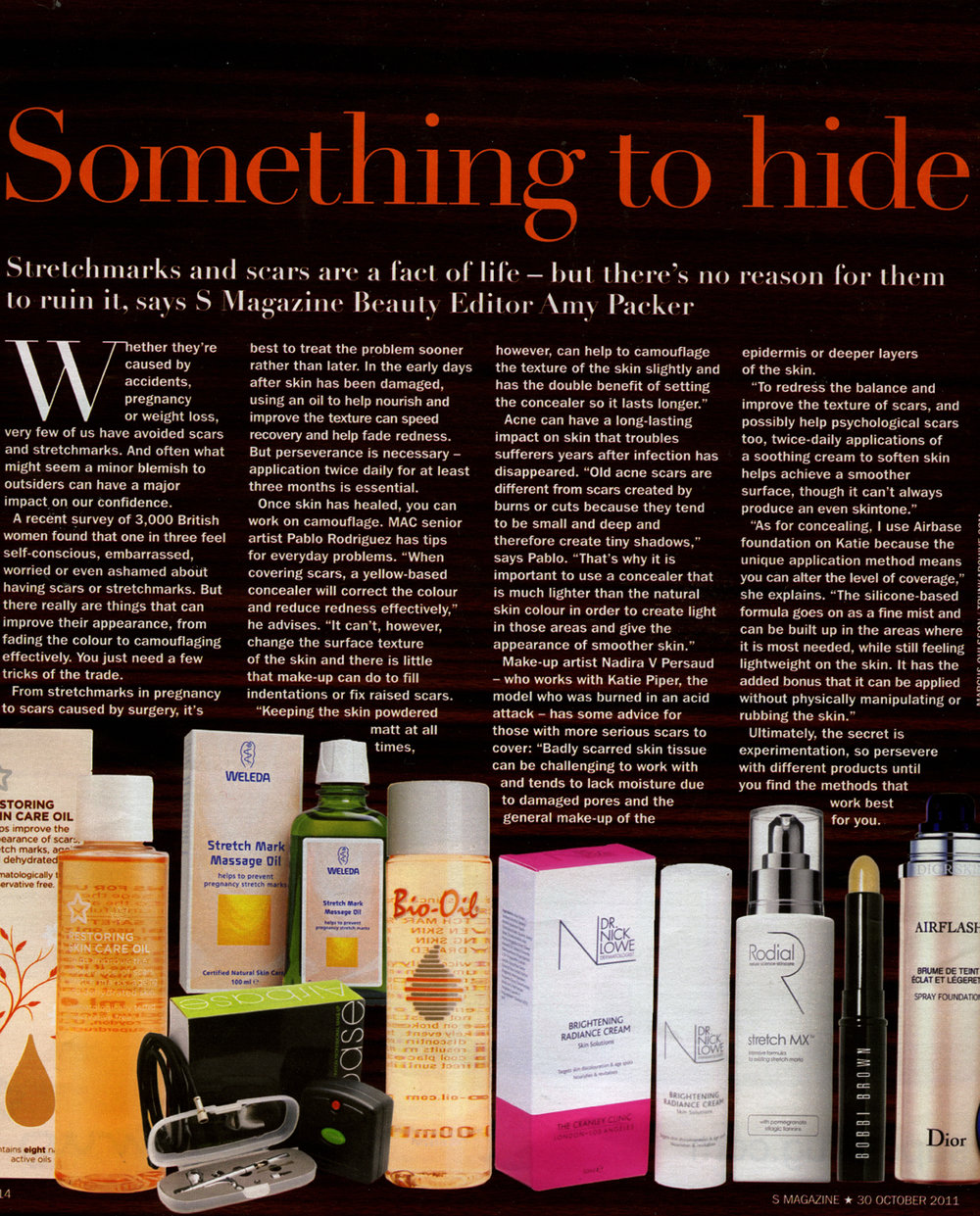 Sunday Express, S Magazine, Scars Coverage