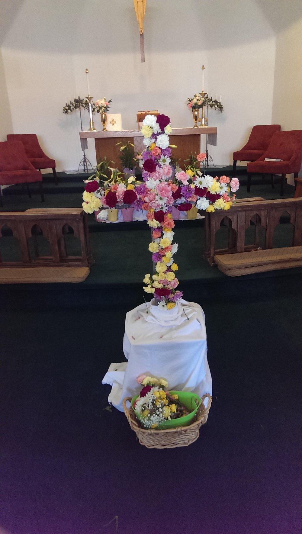 Easter Flower Cross, 2016