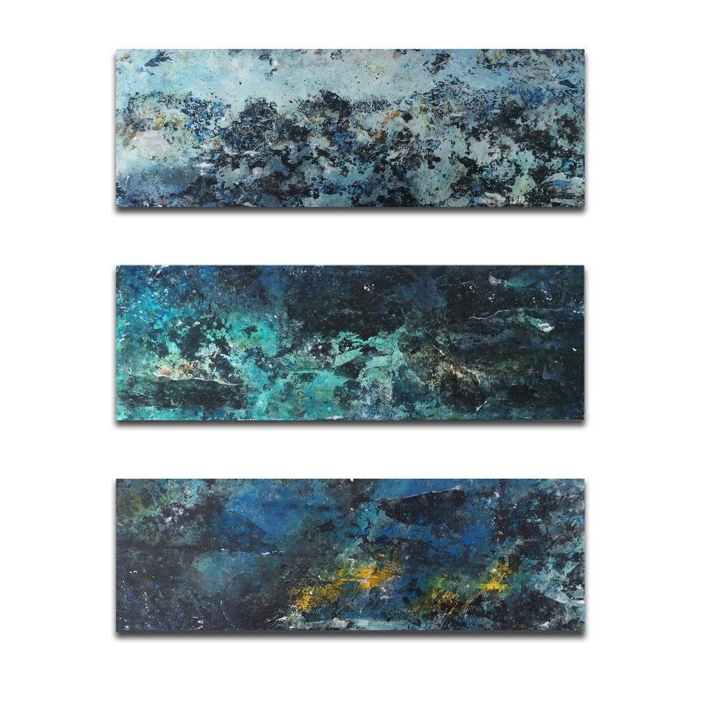 Shoreline Series (SOLD)   10x30 Acrylic on Canvas