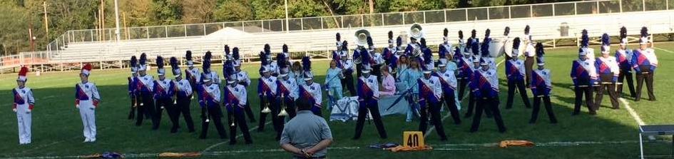Marching Cornjerkers at the Danville Competition.