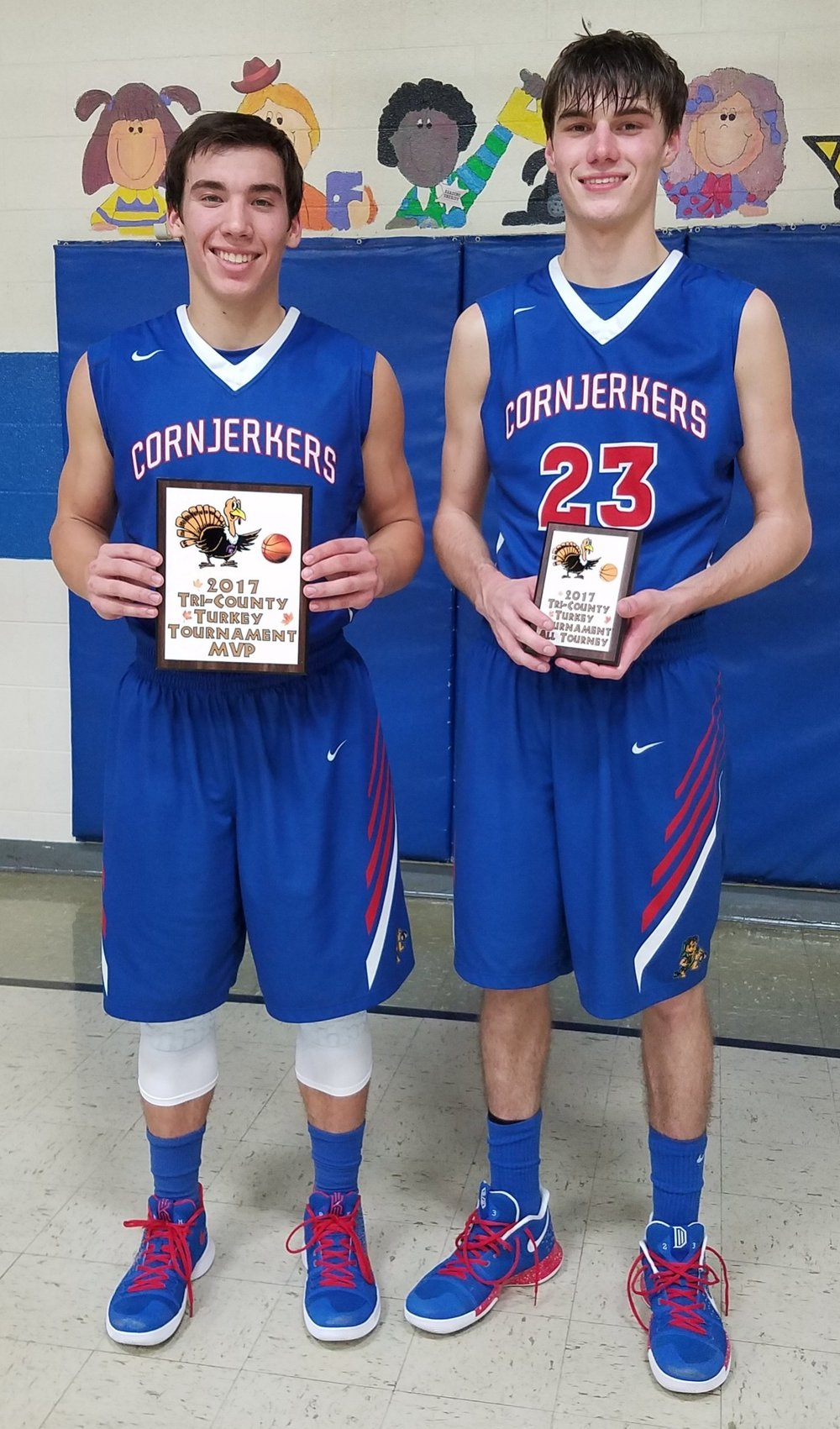 Logan Walder tourney MVP and Ryan Drayer All-Tourney team.