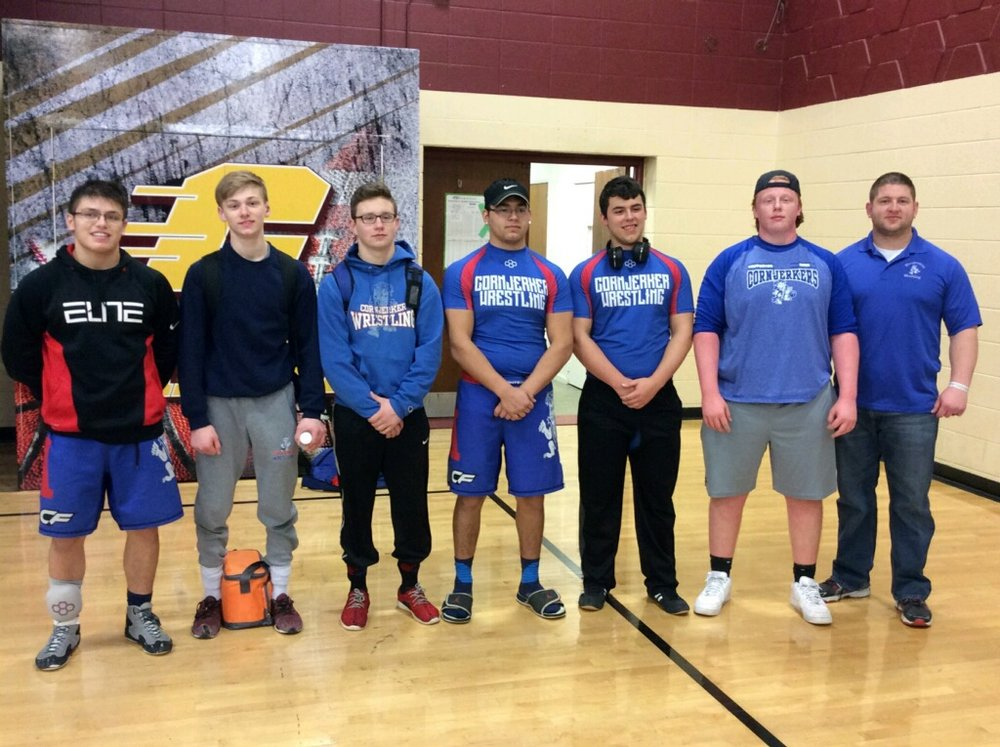 pictured left to right: Zamora 1st place, Elliott 1st place, Gaddis 2nd place, Colunga 3rd place, Kenner 3rd place, Curry 3rd place, Coach Kelnhofer.  not pictured: Ashby 1st place