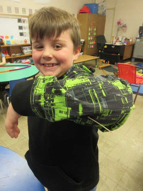 100th Day of School Deck 067 ok Haydin toothpick on sleeve by elbow.JPG