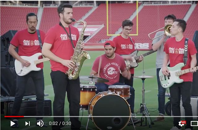 "This past summer I was given the opportunity to transcribe and record ""San Francisco Open Your Golden Gate"" for the @49ers. After we finished recording, we were invited to @levisstadium to film a little music video to go along with the song. It was an incredible experience and I can't thank everyone that helped enough. Shoutouts to @titusbriseno for bringing the project to me and drumming, @robertgalberinojr for the great idea, the incredible time we had at Levi's, and for giving some hardcore 49er fans the opportunity to be a small part of what the team is doing this season, @t_speckman for recording guitar, and @markiship for laying down some sax. You can find the video on the 49ers YouTube page and I'll link it in my bio as well. #faithfulthenfaithfulnow #brickbybrick"