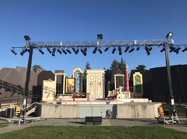 Excited to be running live sound for another Stan State Theatre Under the Stars! Come check out Tartuffe, now through May 6th! • • • #livesound #theatre #turlock #stanstate #csustan #stanislaus #yamaha #m7cl