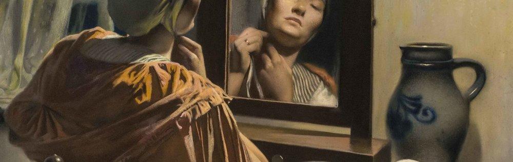 Firmin Baes, La Toilette, detail image