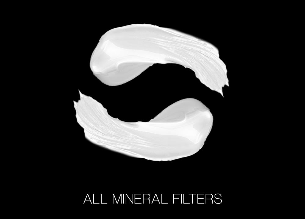 Only mineral filters - zinc oxide and titanium dioxide - to offer safe, full-spectrum protection.