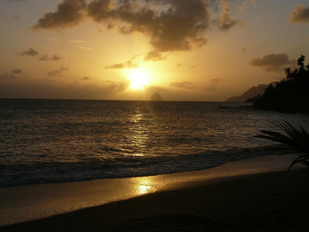 Surprise Vacation Martinique Diamant Beach Sunset