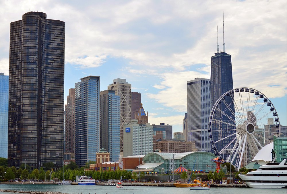 Chicago waterfront, navy pier