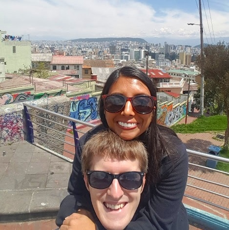 -Roshni & Jeff in Quito, Ecuador!