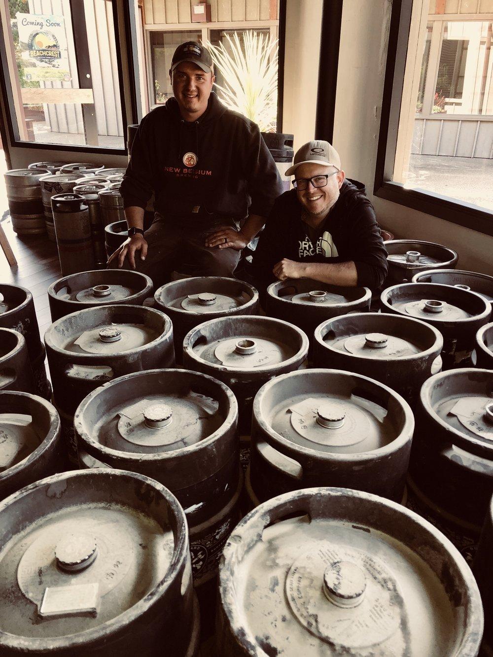 Beachcrest's first round of kegs