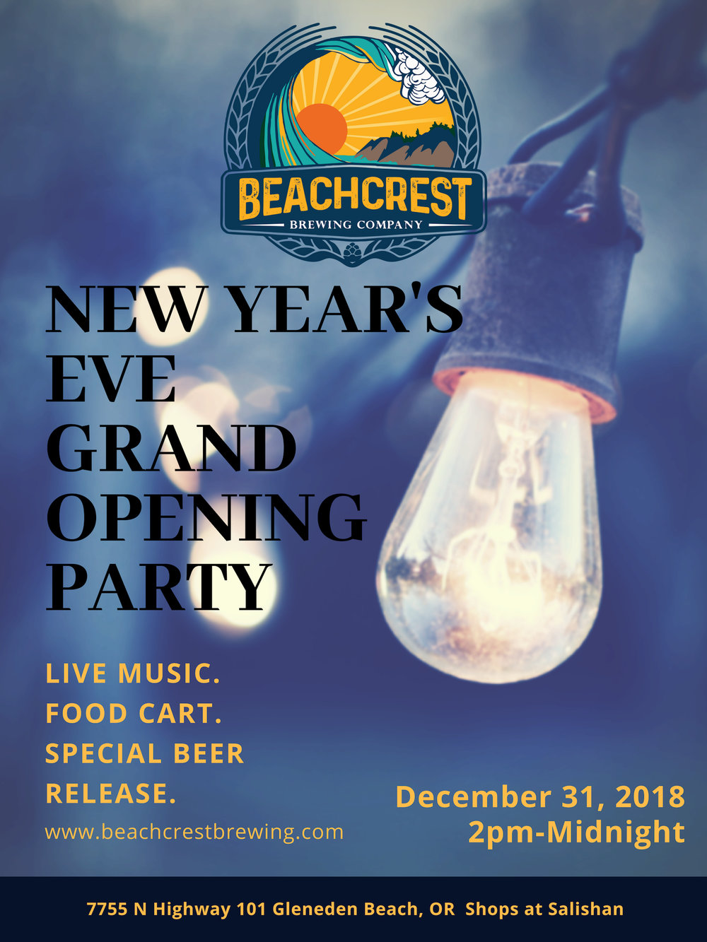 New Year's Eve Grand Opening