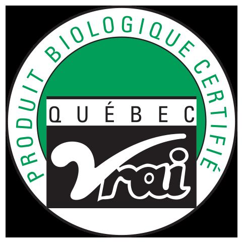 Certifié biologique par Québec Vrai