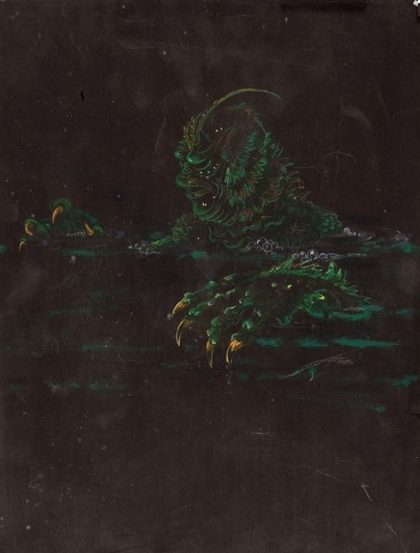 Bud's concept sketch of the Creature from the Black Lagoon, 1953.