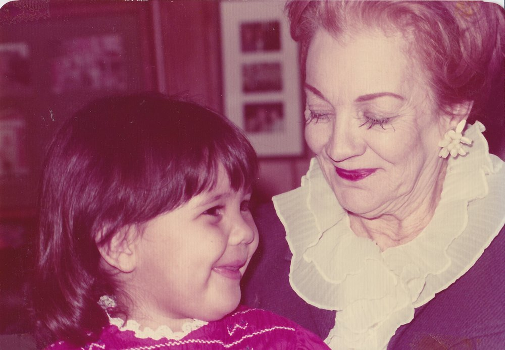 Me with my Great-Grandmother, Betty Westmore. 1975.