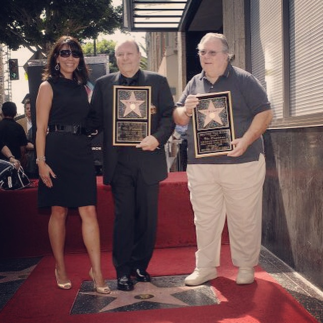 Me and my cousins, Michael and Marvin Westmore, Hollywood Walk of Fame, 2008.  One of the greatest days of my life. This star is dedicated to all past, present, and future Westmores.  PHOTO: Bob Freeman