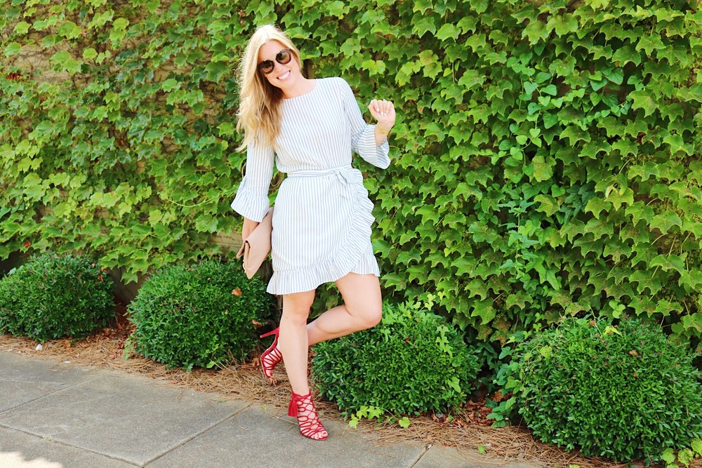 Wearing my favorite new dress from the WhoWhatWear Collection - shop it below.