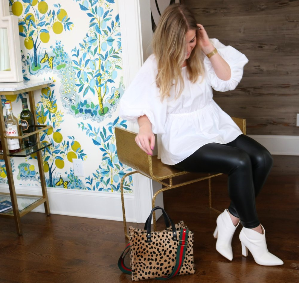 Wearing my favorite Scandi-style blouse by Cecilie Bahnsen