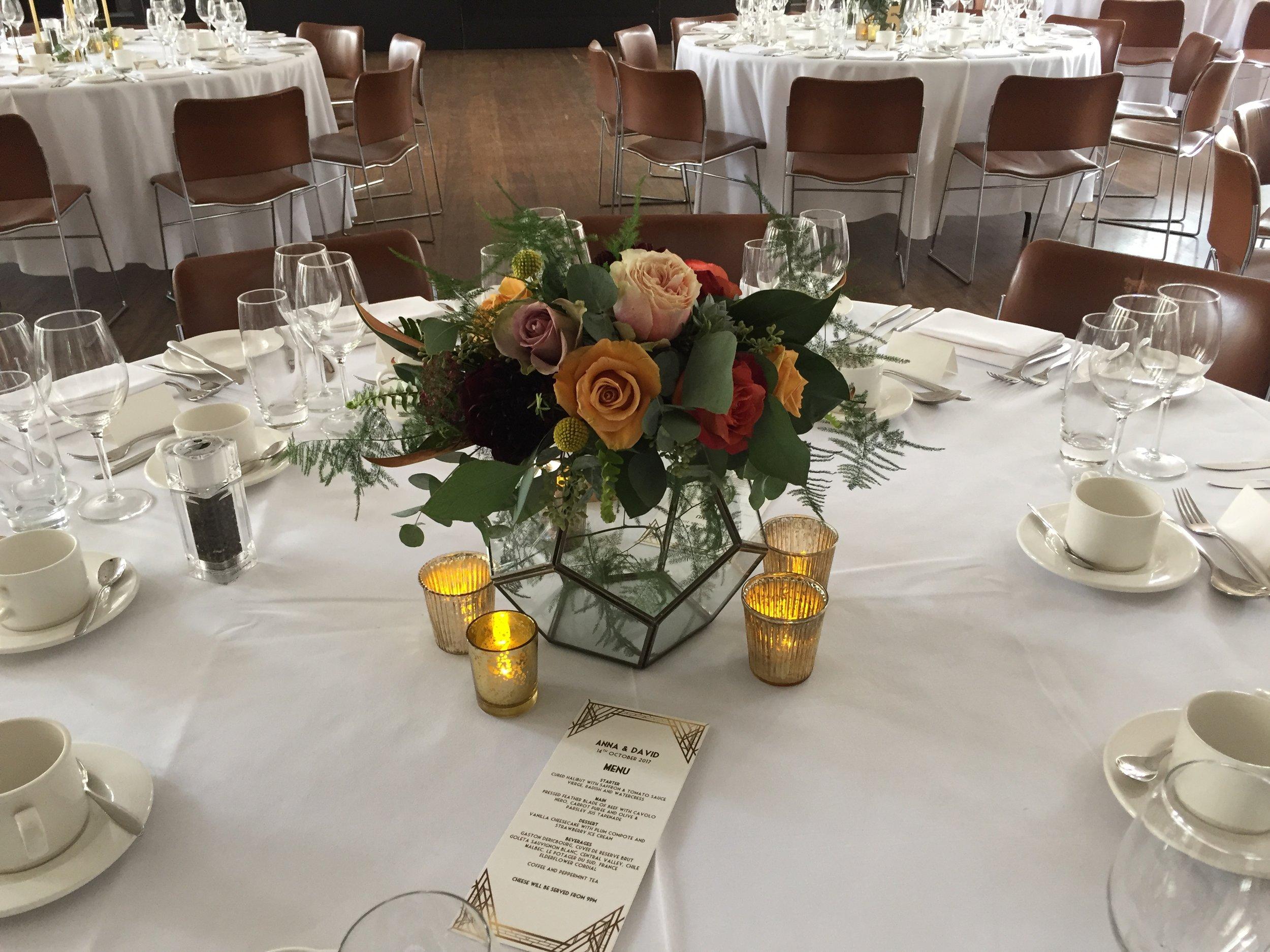 Vase hire love blooms wedding flowers london event flowers gold brass edged terrarium x 7 availablenbsp w 27cm x l 27cm x h 21cm although junglespirit Gallery