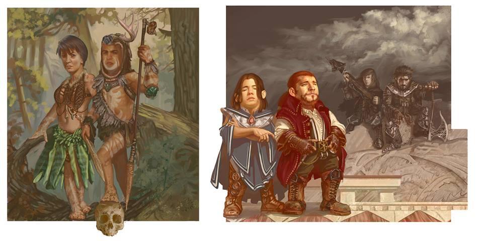 Wild halflings, gold dwarves