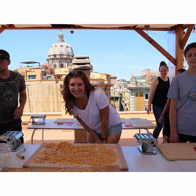 Today I learned I can make my own pasta even though I'm a terrible cook. Related note: I'll never be able to eat boxed pasta again. #dlainetakeseurope