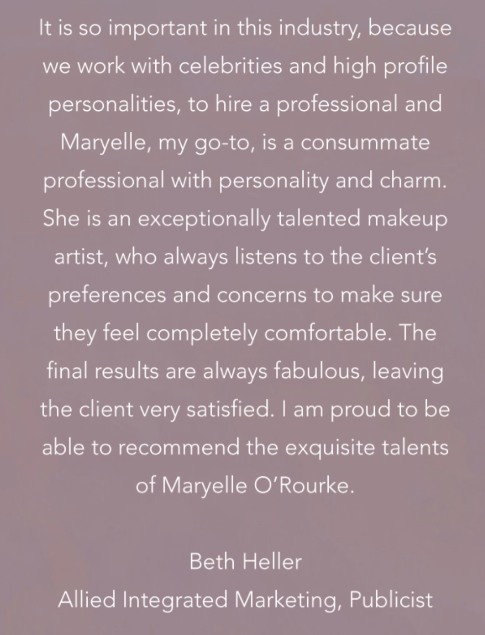 Testimonial from Beth Heller, Allied Integrated Marketing