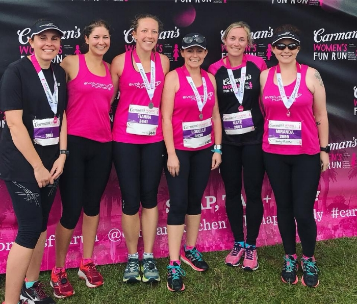 Carman's Women's Fun Run Evolution Runners team