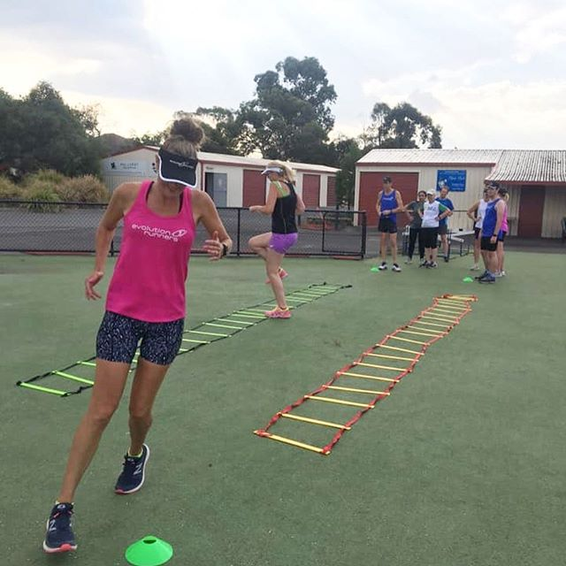Warm up fun at RUNFIT Fast last night. Followed by long track intervals. Well done legends! ❤️