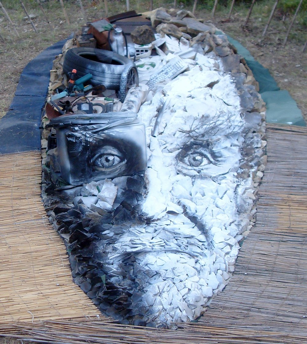 Object of Man(fredo)   ~ Junk and stones ~ 2x10x25ft ~ 2012