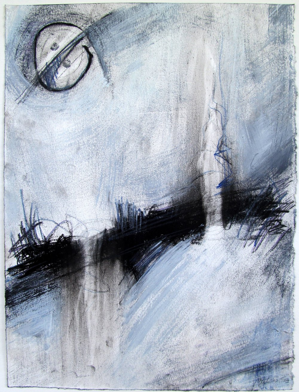 Rhythmic Balanced Interchange V   ~ Charcoal, acrylic, prismacolor on paper ~ 15x11in ~ 2013