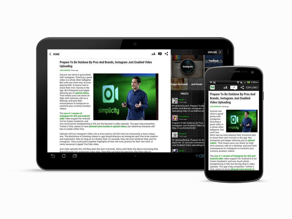 Article View & CrunchBase/Explore Panel