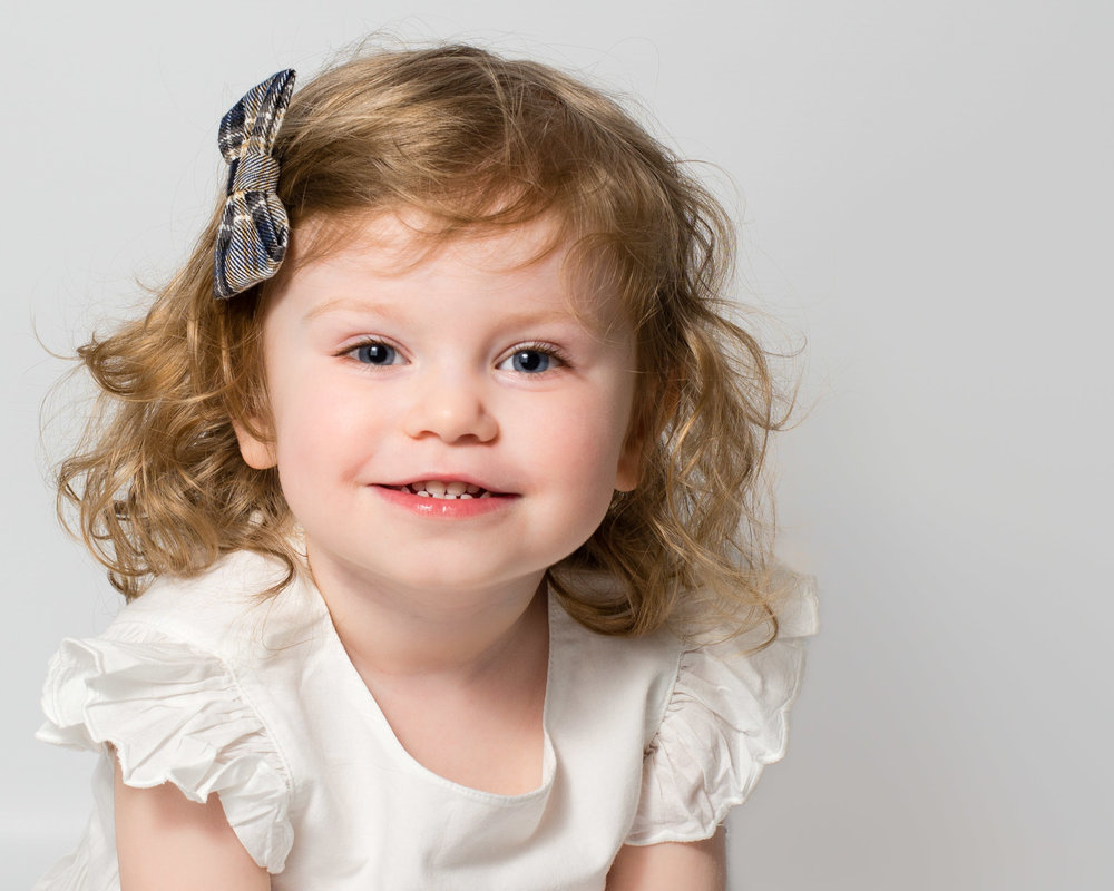 Toddler studio headshot | Children's Photography