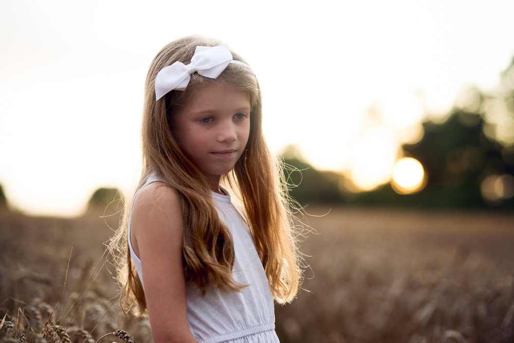 Angelic golden hour portrait | Children's Photography