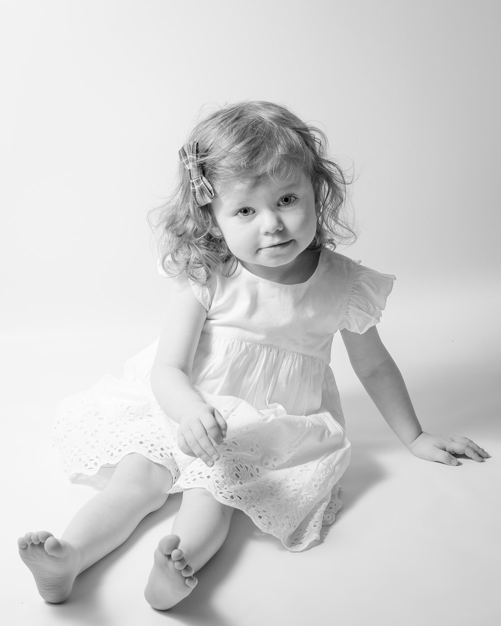 Toddler sitting in studio  | Children's Photography