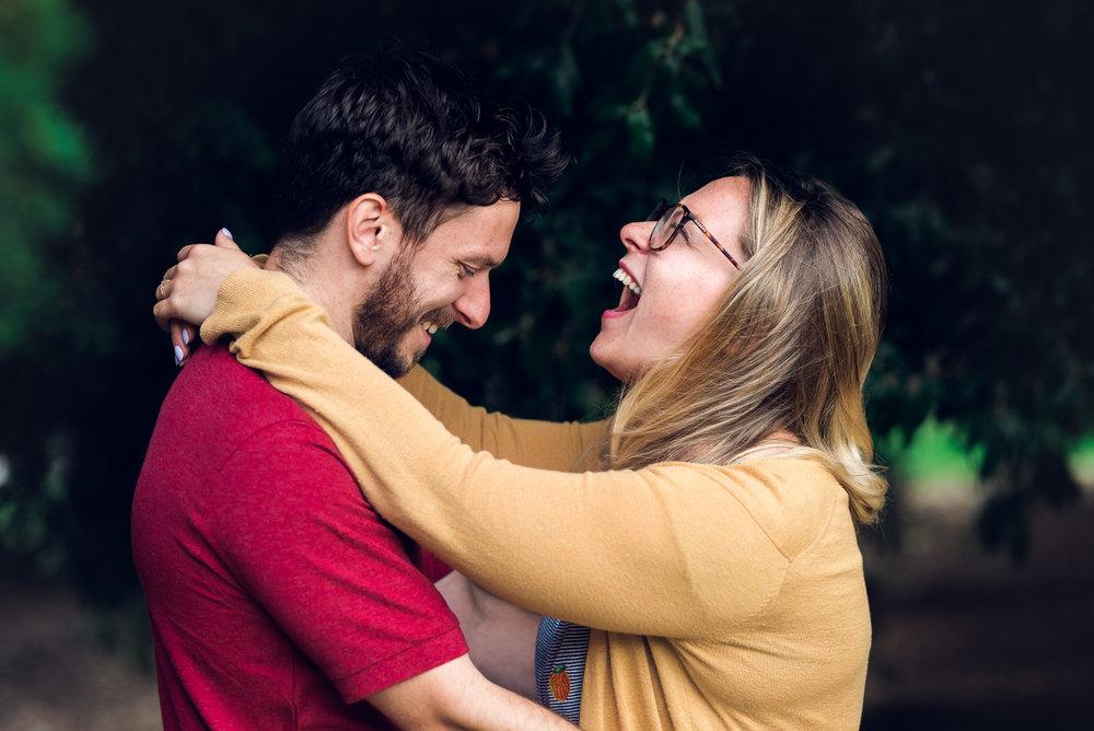 Engagement shoot fun - Cotswolds Wedding Photographer